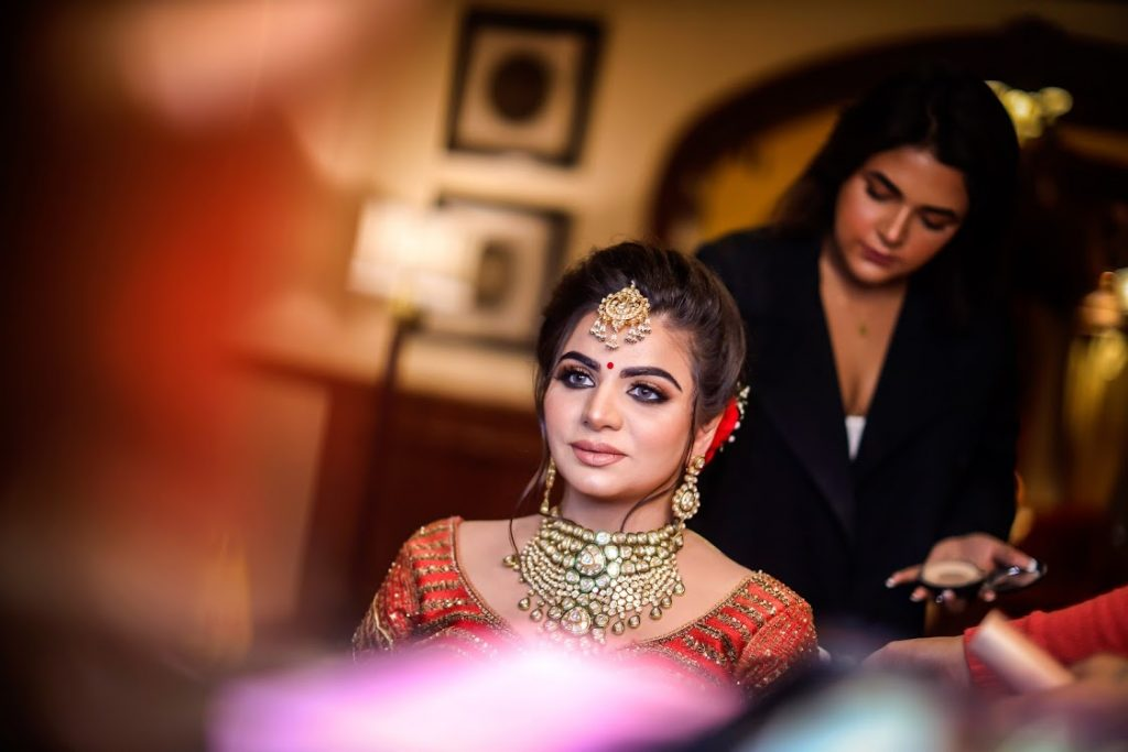 Aakriti Getting Ready Pictures for her ITC Grand Bharat Wedding