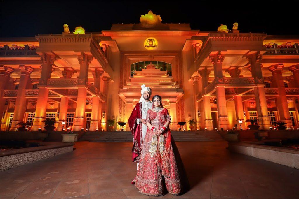 Hitesh & Aakriti post wedding at ITC Grand Bharat Images