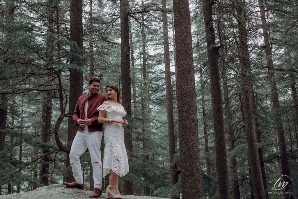 Aesthetic Shots from Akansha & Ankit's Pre-wedding Shoot in Manali before Royal Marwari Wedding