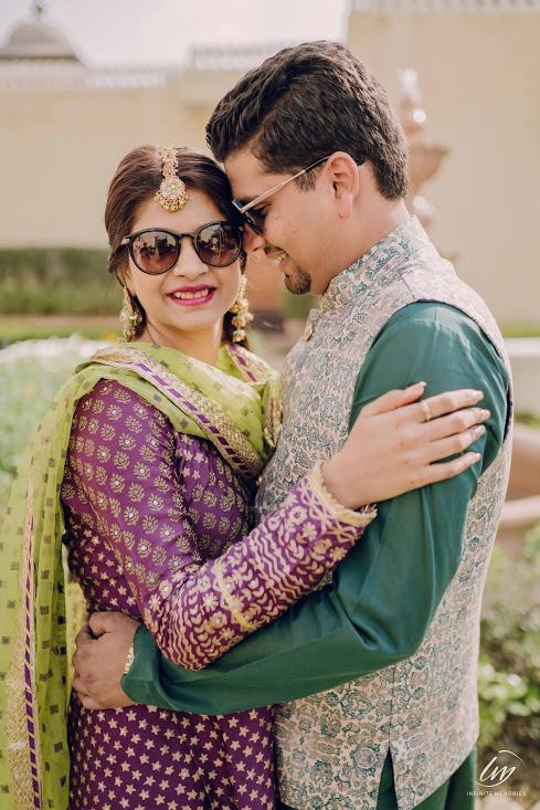 Super Cute Portrait of Akansha & Ankit from their Royal Marwari Wedding in Jaipur