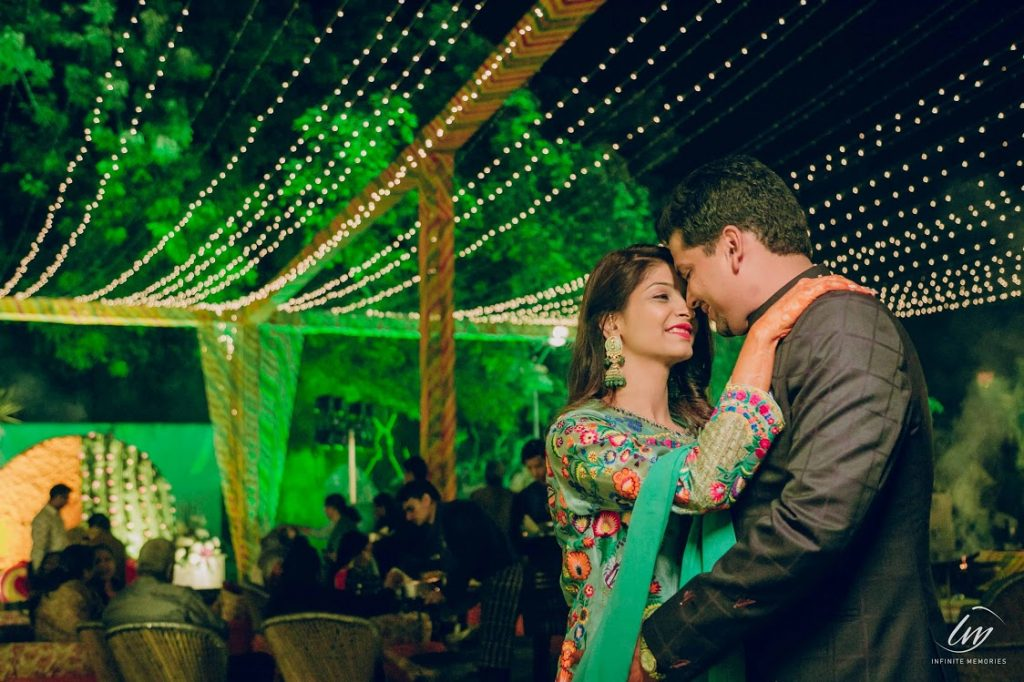 Destination Wedding in Jaipur's Welcome Dinner Party Portraits
