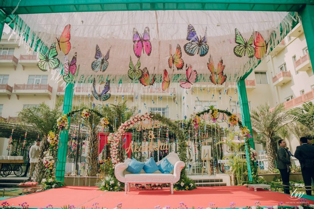 Best Butterfly Stage Decor for Royal Marwari Wedding in Jaipur