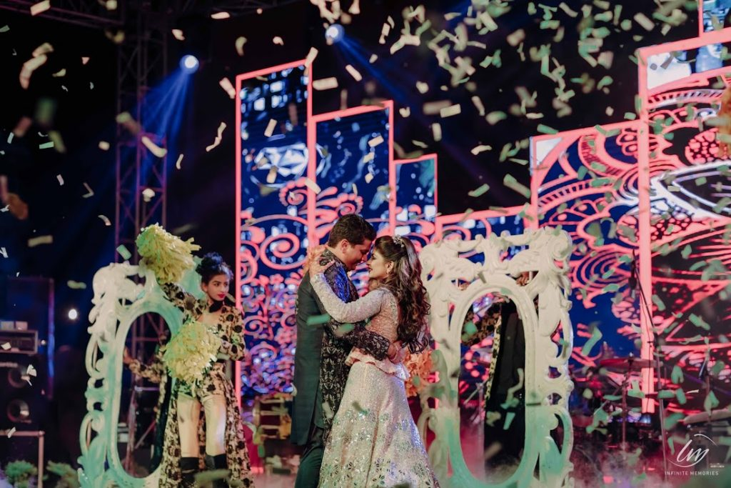 Akansha & Ankit's Candid picture from their romantic dance performance at Sangeet at Le Meridien Jaipur