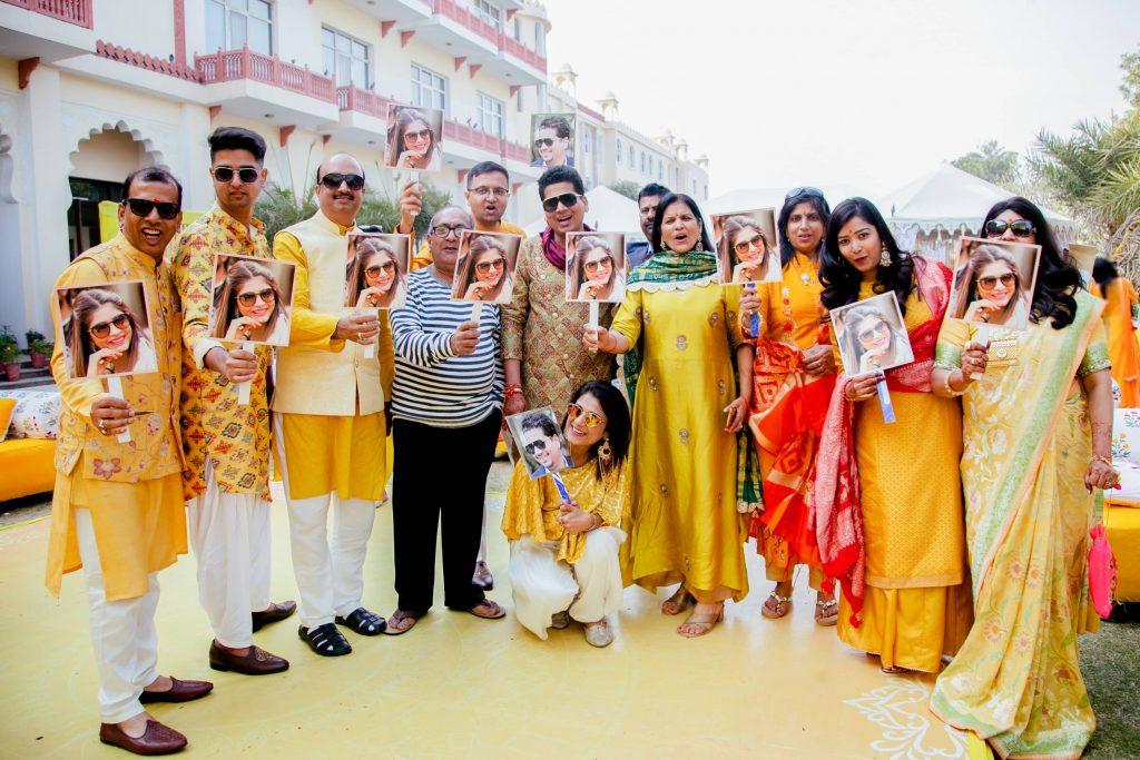 Super Innovative Props for Akansha & Ankit's Haldi