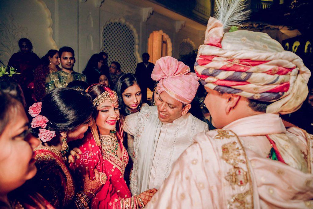 Emotional Vidai Ceremony Candids of Akansha and her parents from her Royal Marwari Wedding in Jaipur