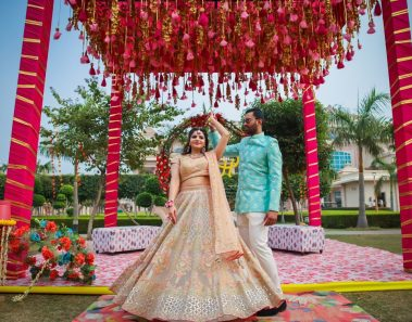ITC Grand Bharat Wedding: Royal Gurgaon Wedding with an incredible balloon ride proposal in Turkey