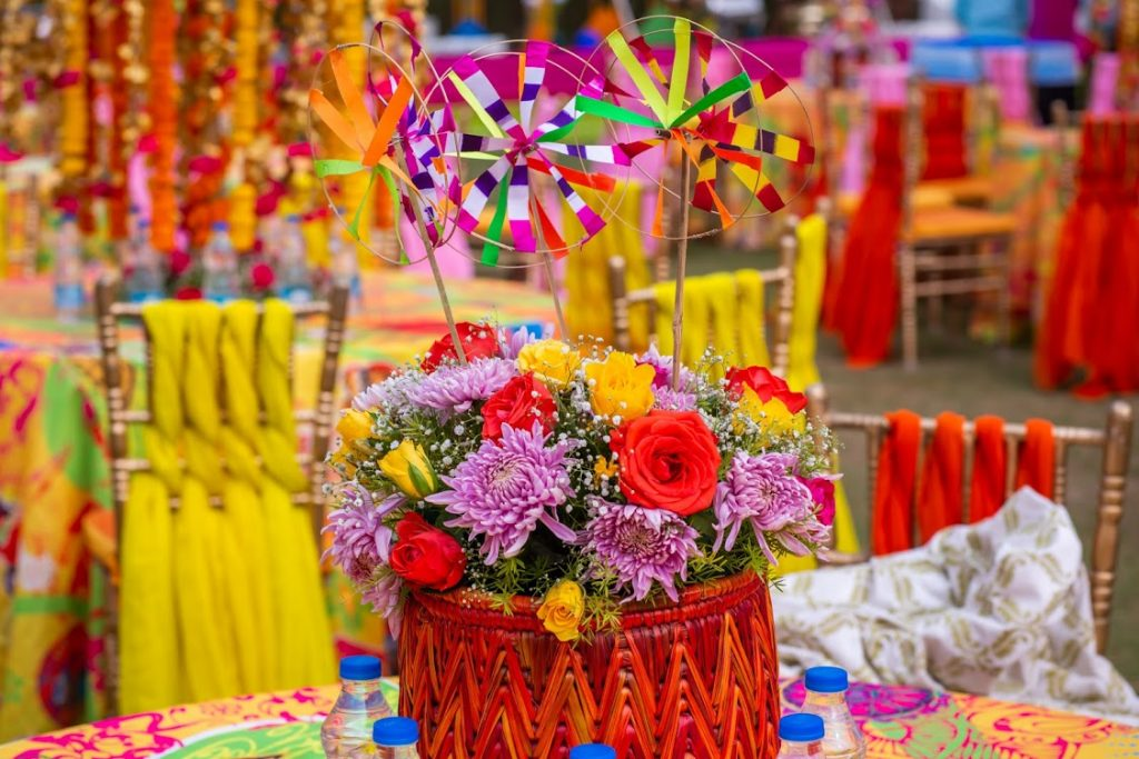 Quirky and Vibrant Props from Hitesh & Aakriti's Mehendi Function at ITC Grand Bharat, Gurgaon