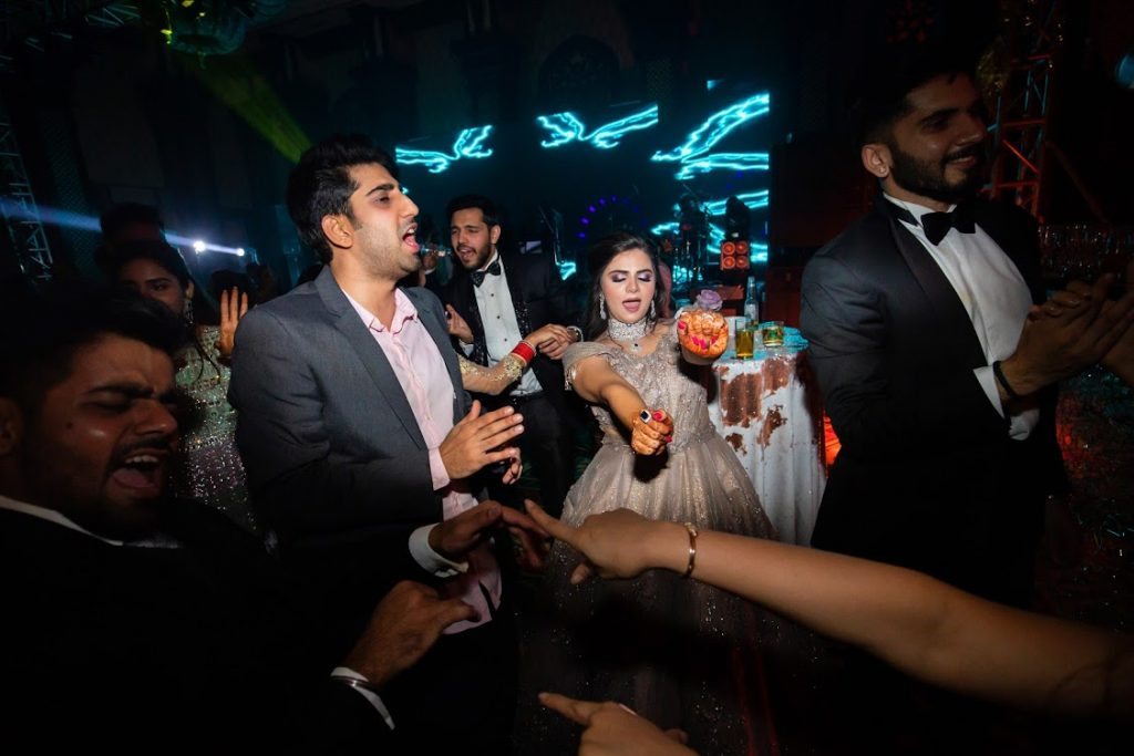 Late Night Fun Dancing and Drinking at ITC Grand Bharat Wedding Cocktail Party