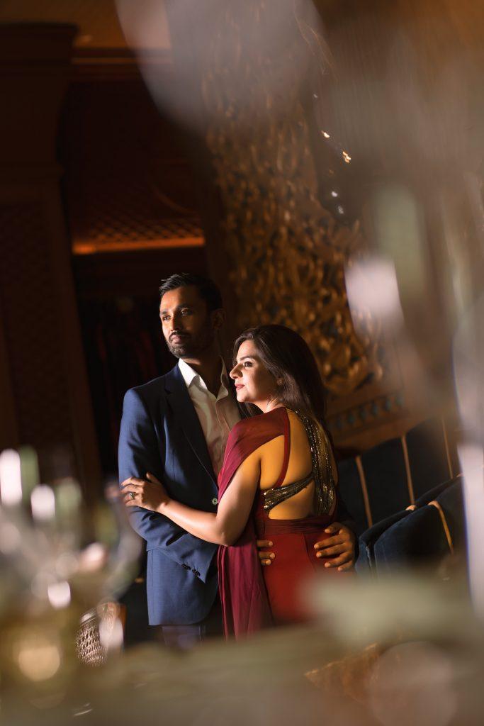 Aakriti & Hitesh's pre wedding picture at ITC Grand Bharat Delhi
