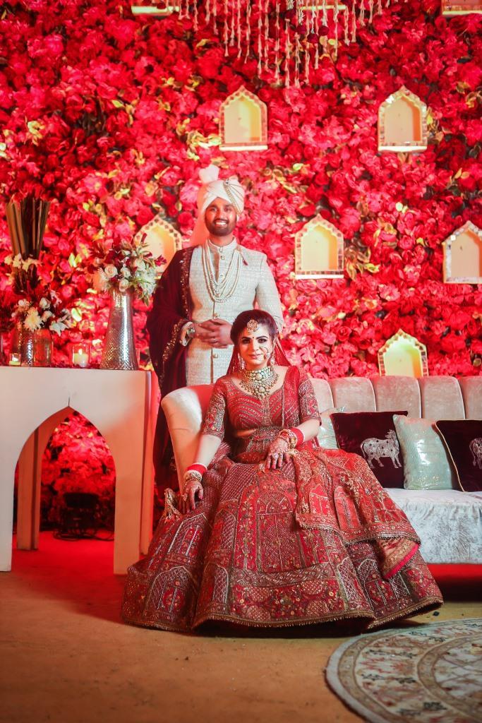 Aakriti & Hitesh's Traditional Portraits from their Destination Wedding in Gurgaon