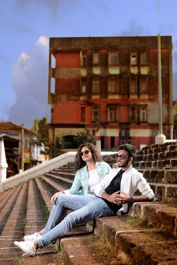 Granth & Nishtha looking chic in their denims for their Pre-wedding Shoot in Goa
