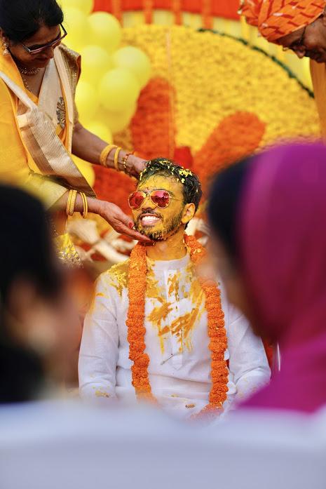 Fun Haldi Ritual in Indian Weddings