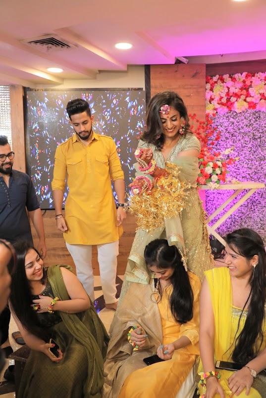 Nishtha's Traditional Kaleera Ceremony for her Punjabi-Jain wedding at Crowne Plaza, Gurgaon