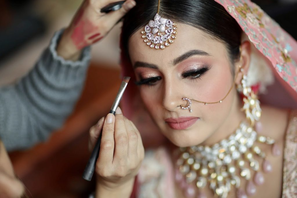 Nishtha's Stunning Bridal Makeup by Leena Bhushan for her Crowne Plaza Gurgaon Wedding