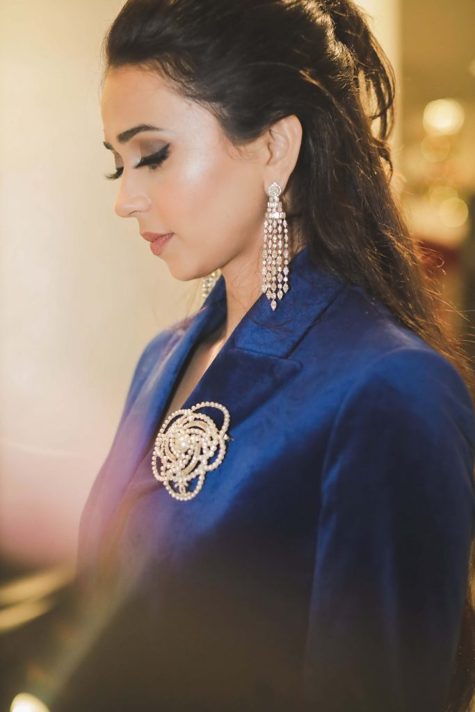 Closeup Image of Aahana from her Dubai Destination Wedding's Welcome Dinner Party