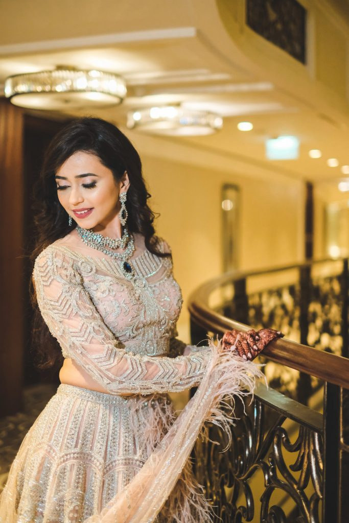 Stunning Look of Aahana for her Grand Cocktail Party at Waldorf Astoria Dubai