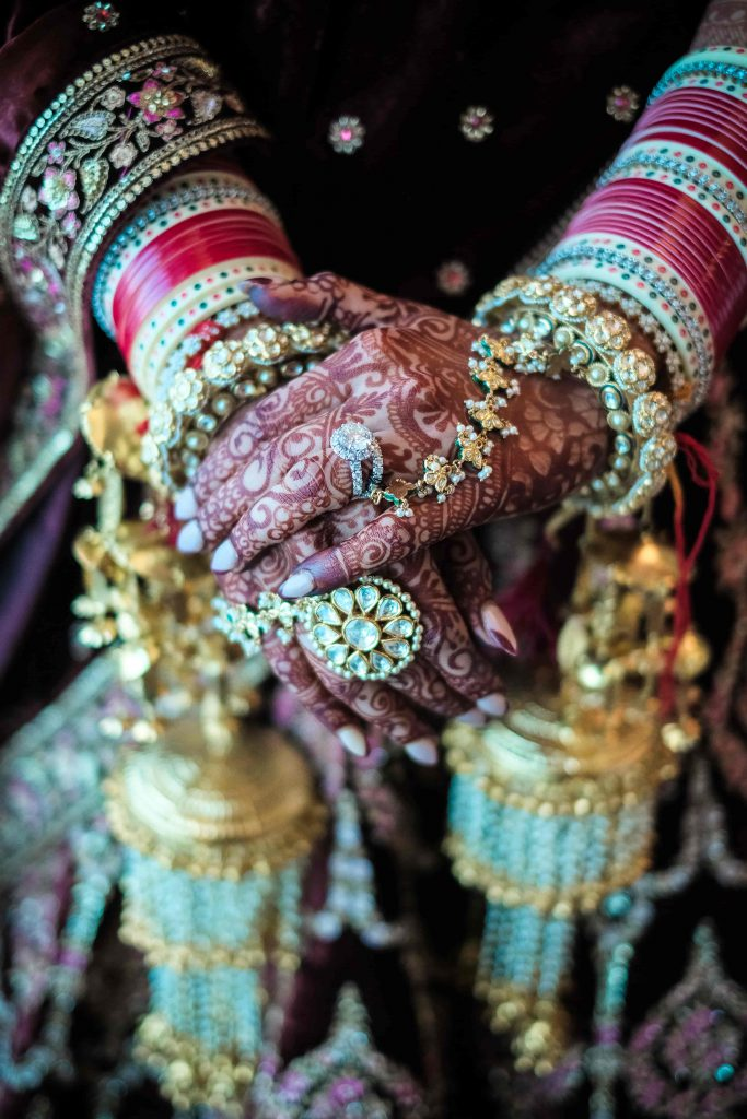 Indian Bridal Aesthtics captured from Dubai Destination Wedding at Waldorf Astoria Dubai