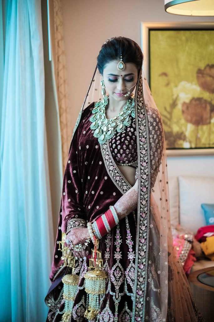 Mesmerising Sabyasachi Bride Photoshoot before her Destination Wedding in Dubai at Waldorf Astoria Dubai