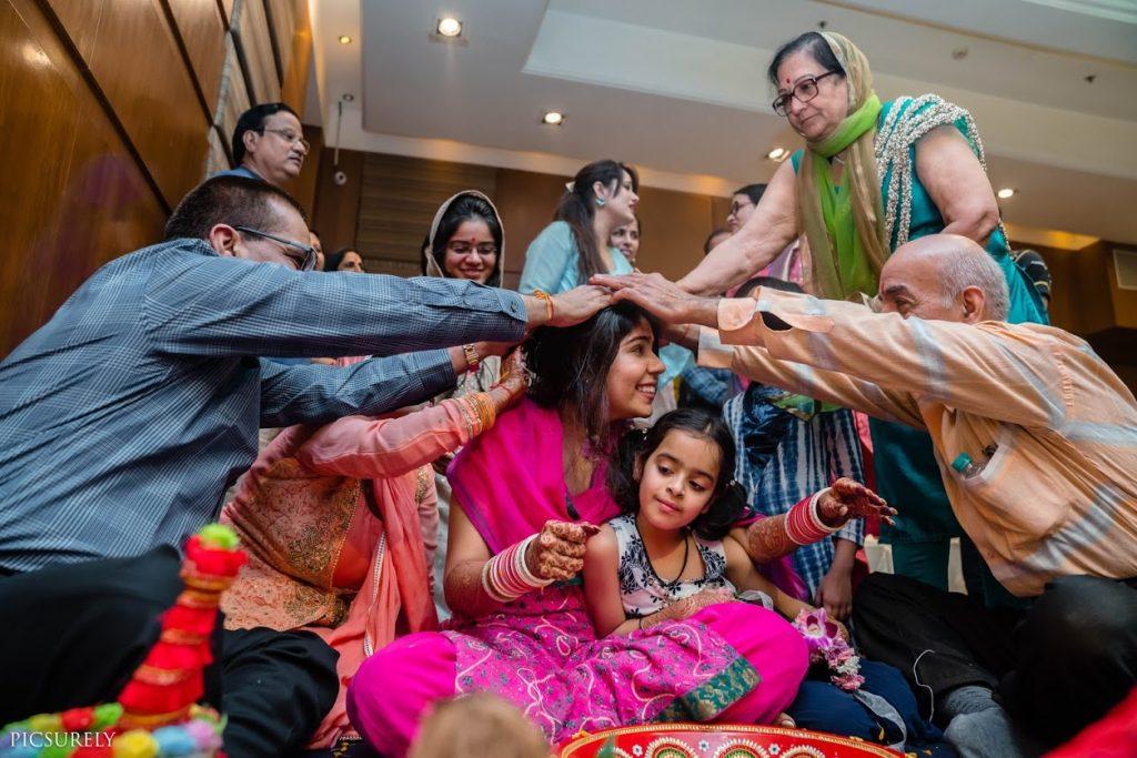 Sindhi Wedding Haldi Rituals followed by Harsha's family for her Sea Princess Juhu Wedding