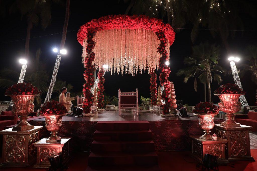 Best Floral Mandap Decor for this royal Sea Princess Juhu Wedding