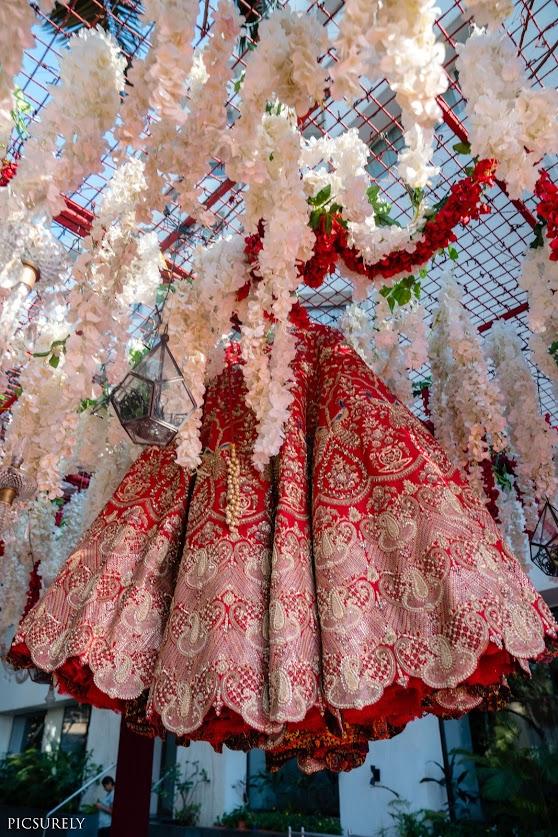 Beautiful Rimple and Harpreet Narula lehenga for Harsha's Sea Princess Juhu Wedding in Mumbai