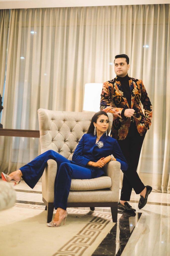 Aahana and Tarun's Statement Outfits for Welcome Wedding Dinner Party