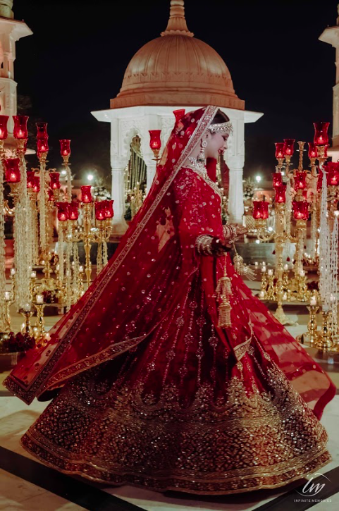 Aakansha's Royal Marwari Wedding portrait captured at The Gulmohar, Jaipur