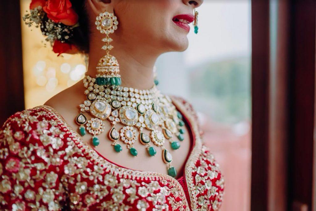 Akansha getting ready for her Royal Marwari Wedding at The Gulmohar Jaipur