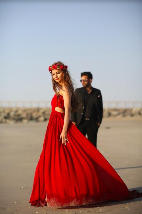 Beachside Pre-wedding Shoot at Fairmont Ajman Dubai for Kanika & Saurav