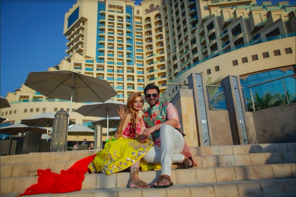 Fairmont Ajman Wedding Mehendi Ceremony Couple Portraits
