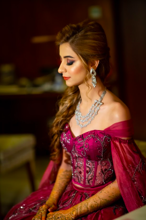 Fairmont Ajman Wedding Bride Getting Ready for her Cocktail Party in Dubai