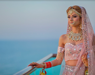 Fairmont Ajman Wedding: Sneak Peak into Pastel sea-facing Mandap & a Classy Beach side Pre Wedding