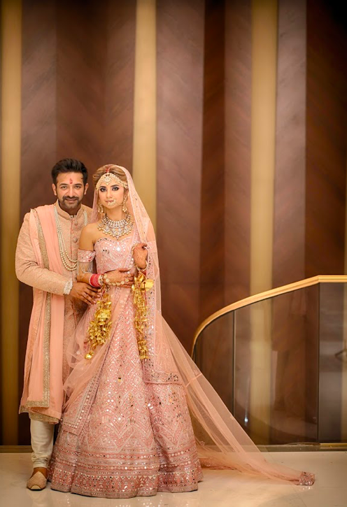 Kanika & Saurav's Fairmont Ajman Wedding Couple Portrait