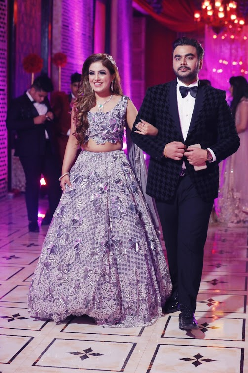 Candid Picture of Saurabh and Gargi from their Cocktail entry to Udman Hotel Delhi