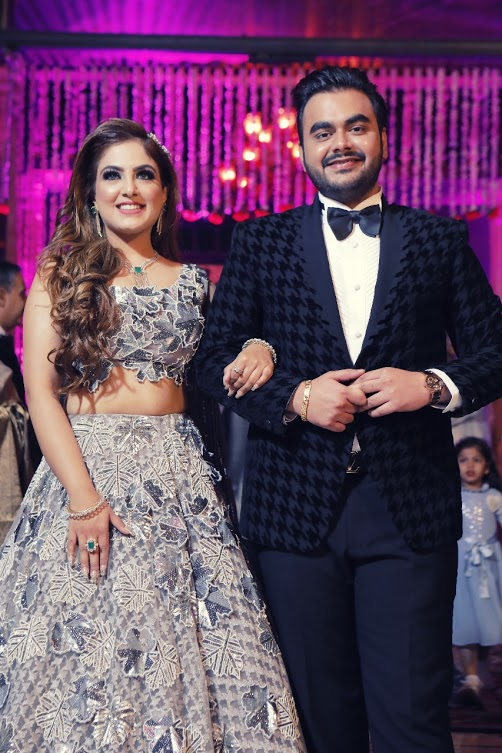 Classy Cocktail Outfits for Gargi & Saurabh's Cocktail Function before Ritz Gurgaon Wedding