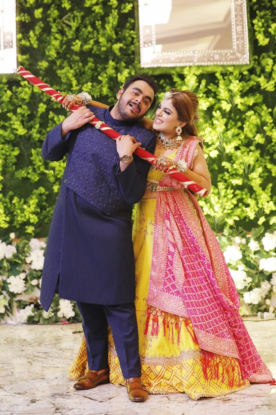 Cute Wedding Couple Portrait captured from the Mehendi party of this grand Ritz Gurgaon Wedding