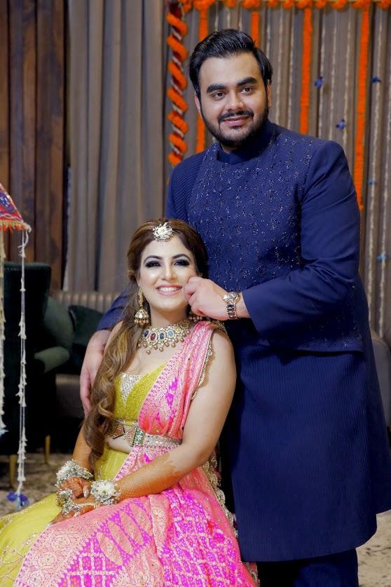 Adorable Portrait of Gargi & Saurabh captured before their Ritz Gurgaon Wedding