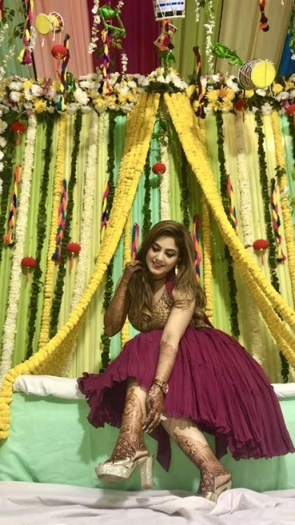 Stunning Bride Gargi at her Punjabi Jaggo Night before her luxury wedding at Ritz by Ferns N Petals