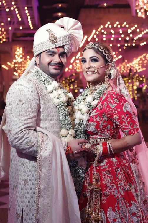 Post Wedding Photography of Gargi & Saurabh in their lovely wedding wears at Ritz by Ferns N Petals