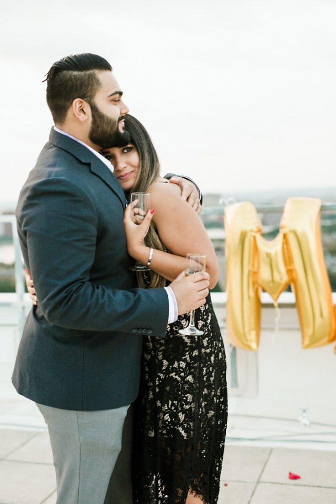 Surprise Marriage Proposal Picture of Vrunda & Sunny at W Boston
