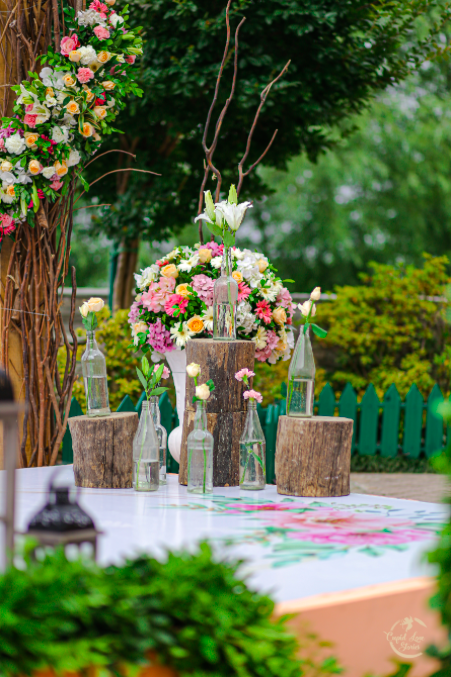Beautiful Bohemian Themed Wedding Decoration Ideas implemented at this Dehradun Destination Engagement Party