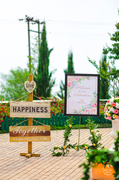 Outdoor Wedding Decor at this Modern & Contemporary Themed Ring Ceremony