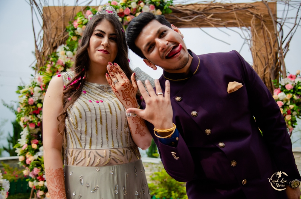 Quirky Post-Engagement Portraits captured at JW Marriott, Dehradun