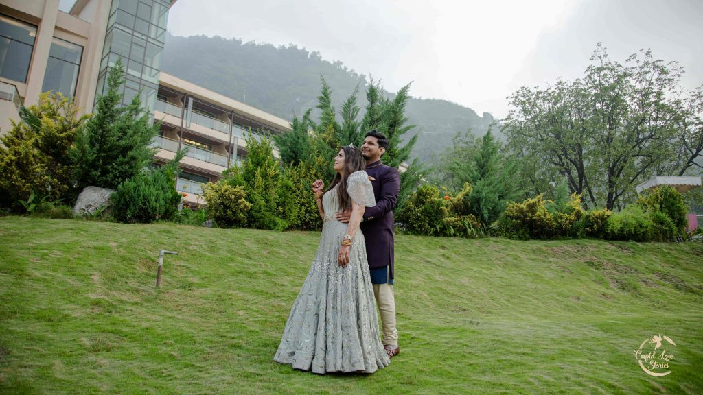 Picturesque Pre-wedding Photoshoot post Engagement Party at JW Mussoorie