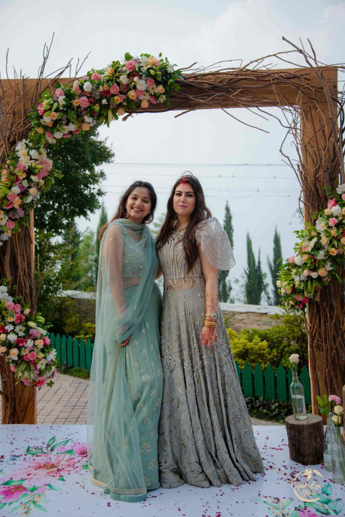 Aparna's Photoshoot with Bridesmaids at her JW Mussoorie Destination Engagement Party