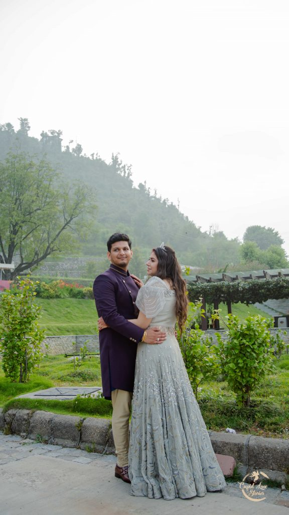 Scenic Pre-wedding Photoshoot of Aparna & Arnav's Destination Engagement Party in Dehradun