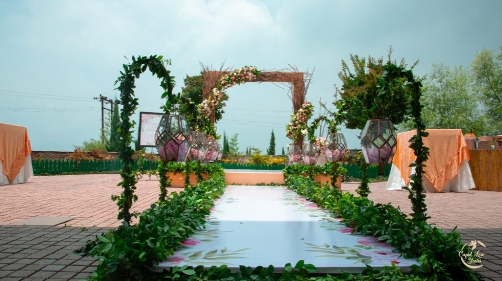 Elegant engagement party decor Ideas implemented at this Destination Engagement Party in Dehradun